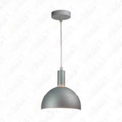 VT-7100 Plastic Pendant Lamp Holder E27 With Slide Aluminum Shade Grey