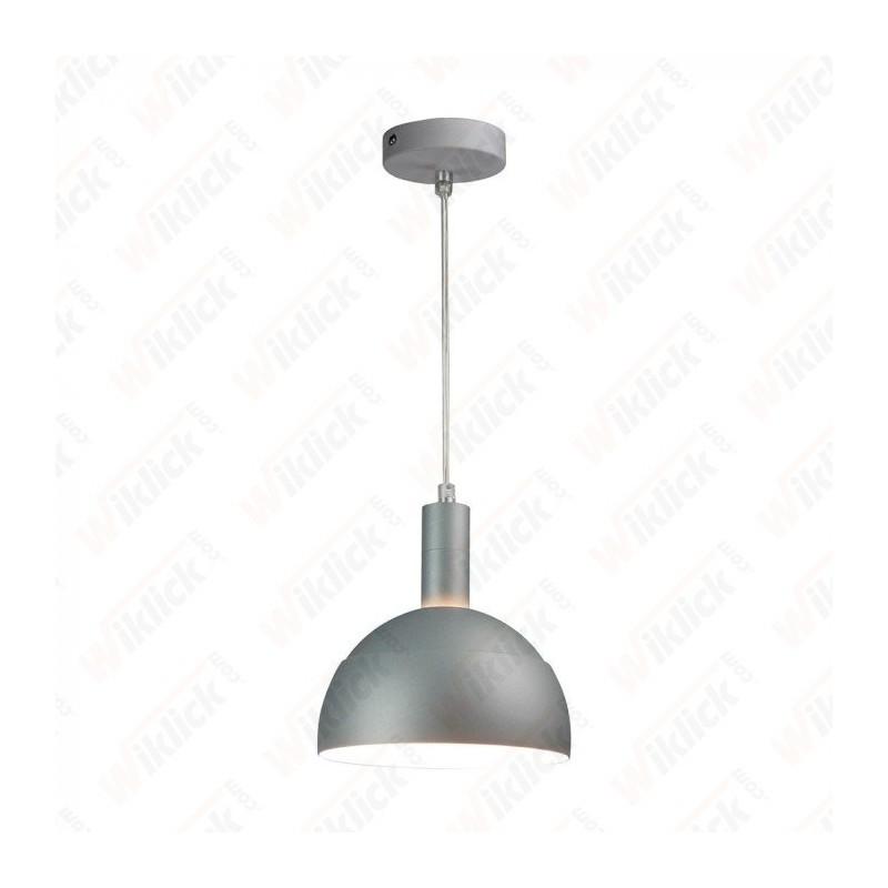 VT-7100 Plastic Pendant Lamp Holder E27 With Slide Aluminum Shade Grey