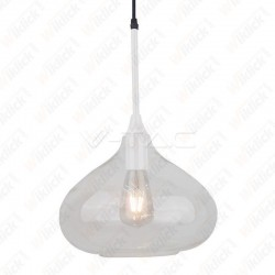 VT-7281 Pendant Light Modern White Glass Sleek ?280??