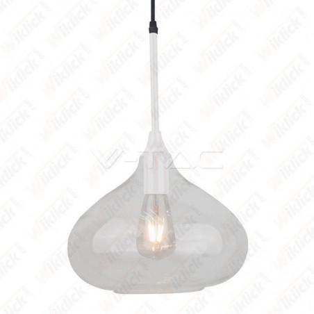 VT-7281 Pendant Light Modern White Glass Sleek ?280??