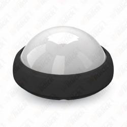 VT-8015 12W Dome Light Fitting Black Body Round 3000K IP65