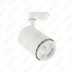18W LED Cob Tracklight White Body 3 in1