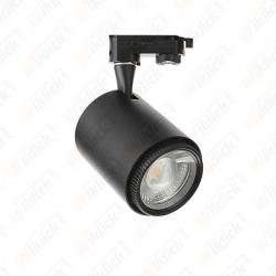 18W LED Cob Tracklight Black Body 3 in1