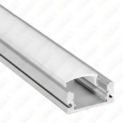 VT-7106 Aluminum Profile Set Milky Cover Narrow 100cm