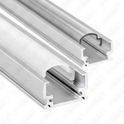 VT-7102 Aluminum Profile Narrow Round Cap Transparent