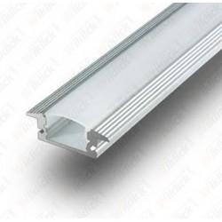 VT-7105 Aluminum Profile Set Milky Cover 200cm (da incasso)