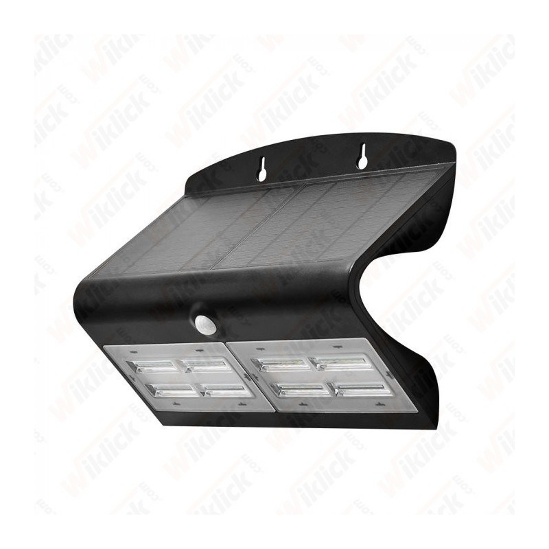 VT-767-7 6.8W LED Solar Wall Light 4000K+4000K Black+Black Body