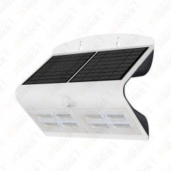 VT-767-7 6.8W LED Solar Wall Light 4000K+400K White+Black Body