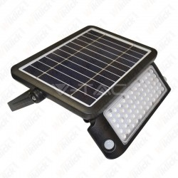 VT-787-10 10W LED Solar Floodlight Black Body 4000K