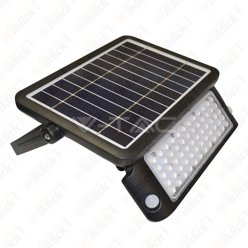 VT-787-10 10W LED Solar Floodlight Black Body 4000K