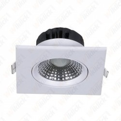 5W LED Downlight Square Changing Angle White Body 3000K