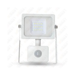 10W LED Floodlight Sensor White Body SMD 3000K