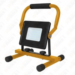 30W LED SMD Slim Floodlight with Stand And EU Plug Black Body 4000K