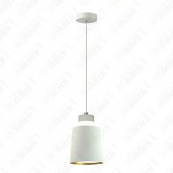 7W Led Pendant Light (Acrylic) - White Lamp Shade 120*190mm 3000K