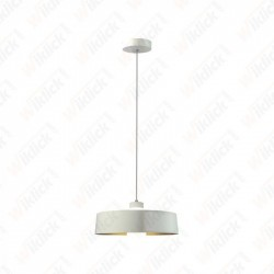 7W Led Pendant Light (Acrylic) - White Lamp Shade 340*190mm 3000K