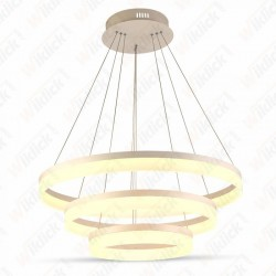 VT-80-3D 80W Soft Light Chandelier Slim 3 Ring Dimmable 3000K