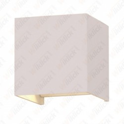6W Wall Lamp White Body Square IP65 3000K - NEW