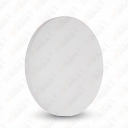 6W Wall Lamp White Body Round IP65 3000K - NEW