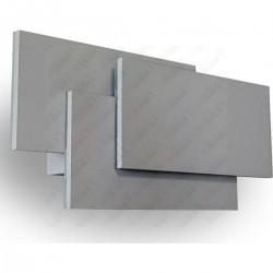 12W LED Wall Light Grey Body IP20 3000K