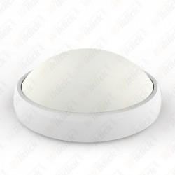 12W LED Full Oval Ceiling Lamp White Body IP65 3000K