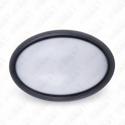VT-8010 12W LED Full Oval Ceiling Lamp Black Body IP54 3000K