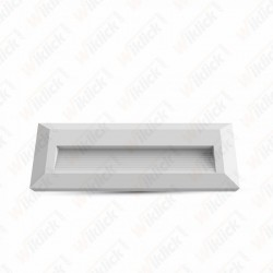 3W LED Step Light White Body Rectangular 3000K