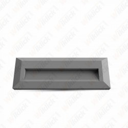 3W LED Step Light Grey Body Rectangular 3000K