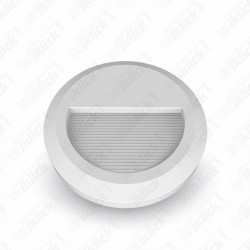 2W LED Step Light White Body Round 3000K