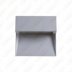 VT-1172 3W LED Step Light Grey Body Square 3000k