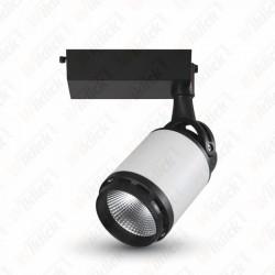 25W LED Track Light Black&White Body 3000K - NEW