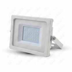 30W LED Floodlight White Body SMD 3000K - NEW