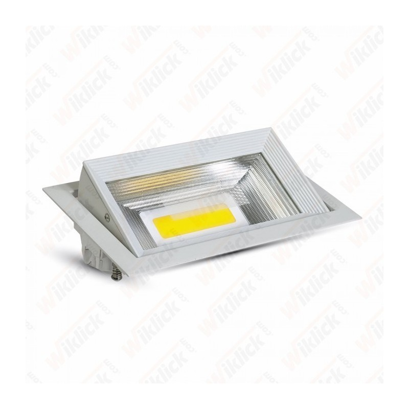 30W LED Zoom Fitting Downlight Rectangle 3000K