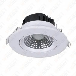 5W LED Downlight Round Changing Angle White Body 3000K