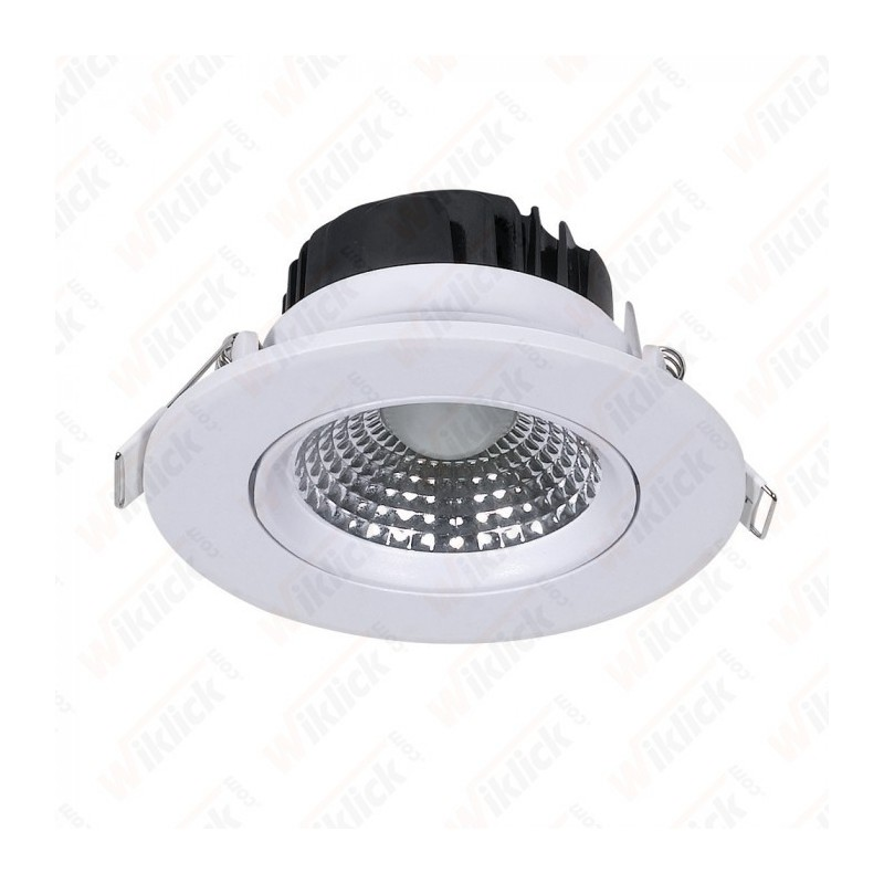 5W LED Downlight Round Changing Angle White Body 3000K