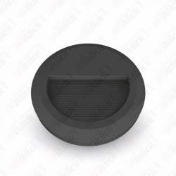 2W LED Step Light Black Body Round 3000K