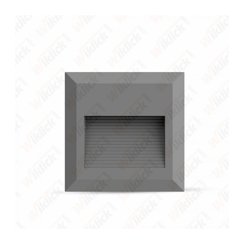 2W LED Step Light Grey Body Square 3000K