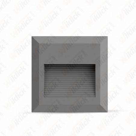 2W LED Step Light Grey Body Square 3000K
