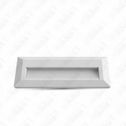 3W LED Step Light White Body Rectangular 3000K
