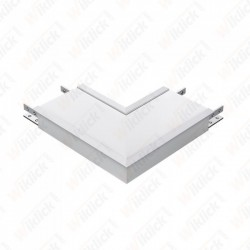 8W L Shape Connector White...