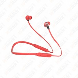 Headset Bluetooth 500mAh Red