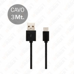 Micro USB Cable 3M Black