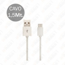 Micro USB Cable 1.5M White