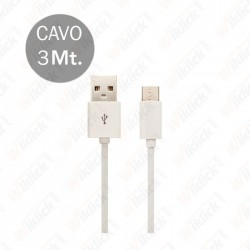 Type C USB Cable 3M White
