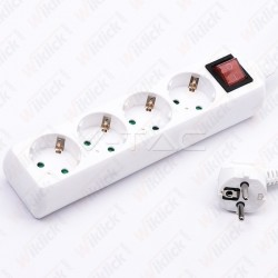 4 Ways Socket With Switch...