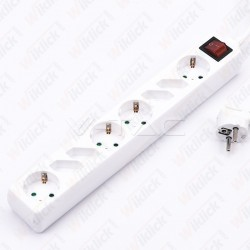 8 Holes Socket Whit Switch...