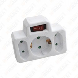3 Outlet Power Adapter With...