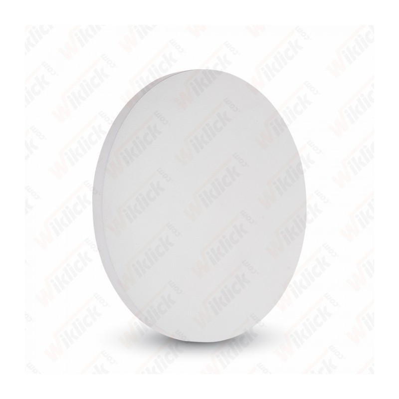 6W Wall Lamp White Body Round IP65 3000K - NEW