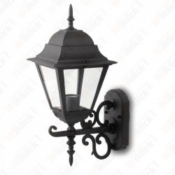 Wall Lamp Large Matt Black Up