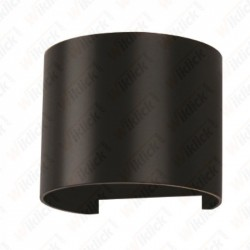 6W Wall Lamp Black Body Round IP65 3000K - NEW