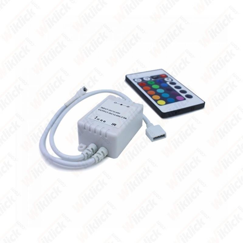 V-TAC VT-2401 controller per strisce led rgb 5050 con telecomando 24 tasti - SKU 3304
